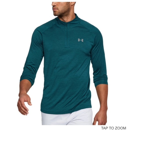 b58a13e52 Under Armour Shirts | Mens Teal Tech 14 Zip Top | Poshmark